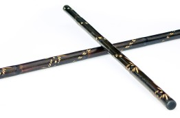 black engraved escrima sticks